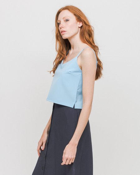 Side Party Top Layer Up Tank Top - Vivid Blue