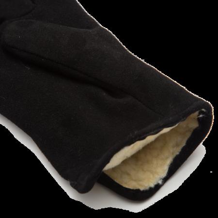 Unisex Geier Glove Lined Deerskin Slip-on Glove - Black