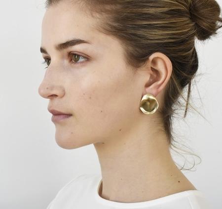 8.6.4 organic stud earrings - Sterling Silver