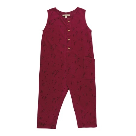 KIDS Red Caribou Terry Jumper - Tibetan Red
