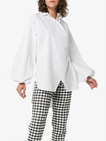 Ganni Poplin Wrap Shirt