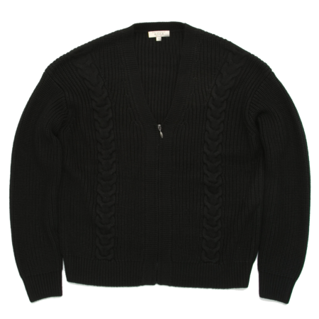 Unisex Aigle Campsur Cable Knit Cardigan - Black