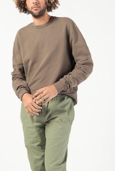 John Elliott Oversized Crewneck Pullover - BROWN