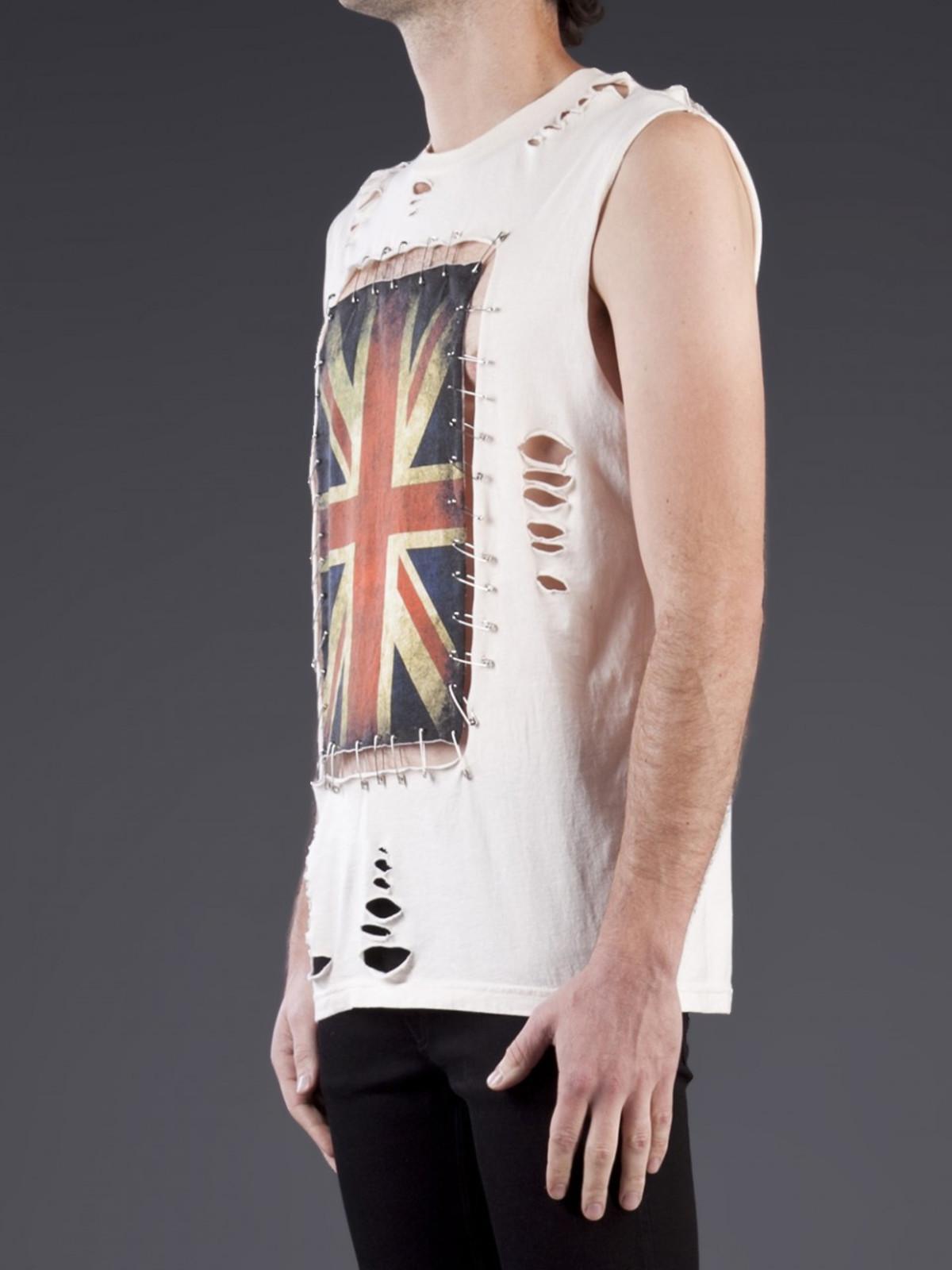 Any Old Iron Union Jack Pin T Shirt Garmentory