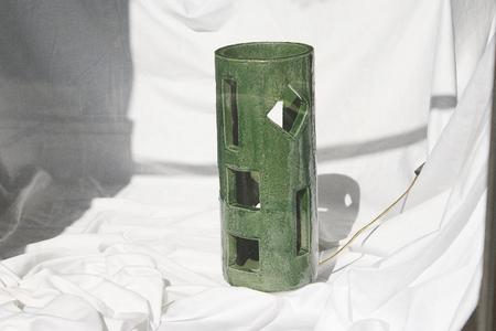 Morgan Peck Tall Piling Lamp - Seaweed Green