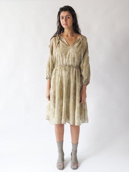 Erica Tanov floriana dress - ecru/gold
