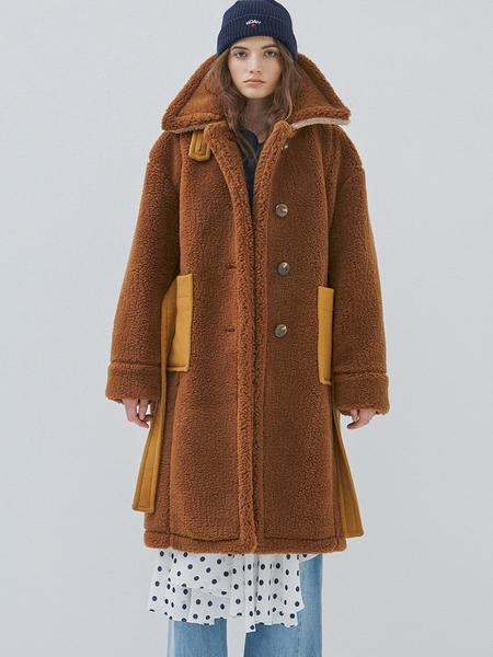 GROUNDWAVE Oversize Mustang Coat - Brown