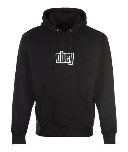 Obey Warp Hood Pullover - Black