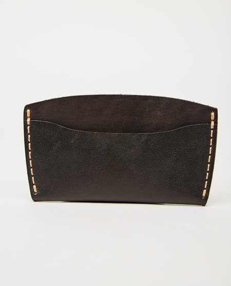 EZRA ARTHUR TOP STITCH NO. 3 WALLET - JET