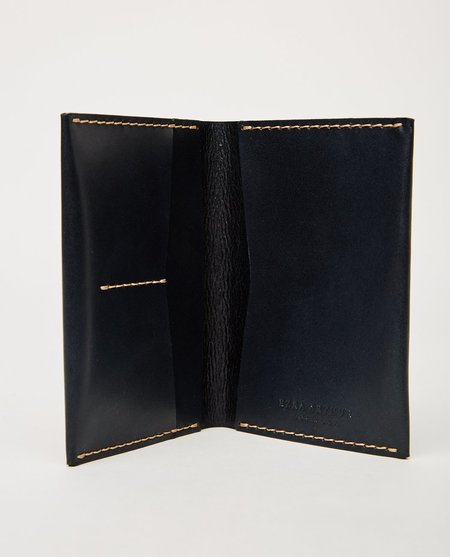 EZRA ARTHUR NO. 5 PASSPORT WALLET - NAVY