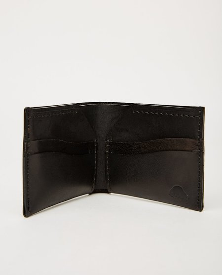 EZRA ARTHUR NO. 6 WALLET - BLACK