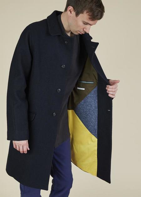 Homecore Wool Blend Steve Coat - navy