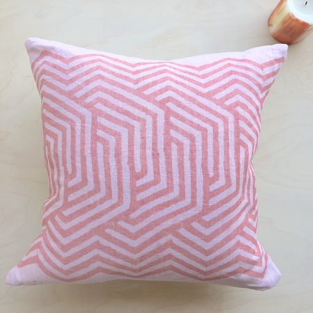 Graham Keegan Natural Dyed Pillow - Pink