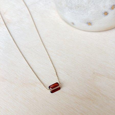 Januka Garnet Necklace - 10k Gold