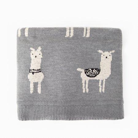 Kids Poketo Llama Blanket - GREY