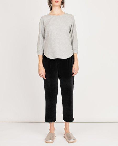 Me & Arrow Wool Simple Blouse - GRAY