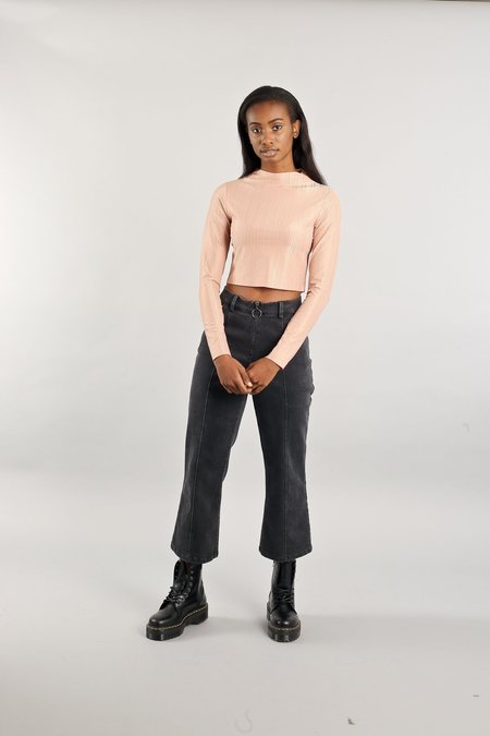 Native Youth The Angela Crop Top - Dusty Pink