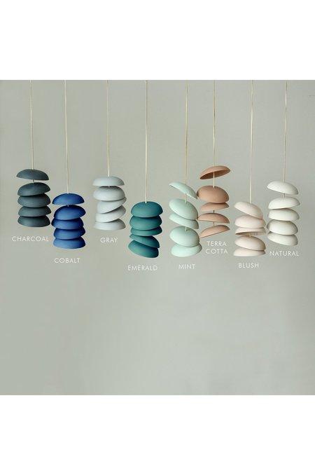 Pigeon Toe Ceramics Medium Disc Chimes - Charcoal