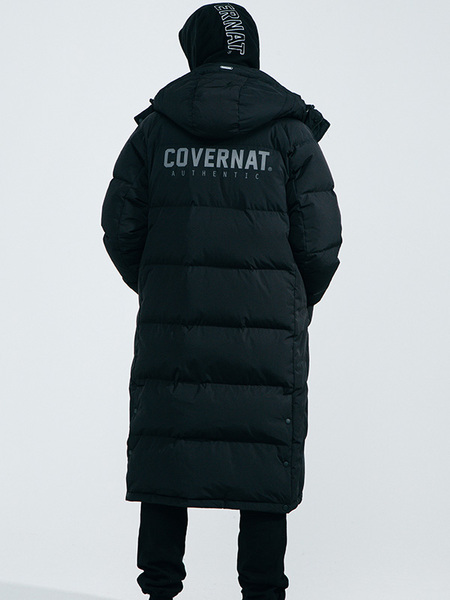 Unisex COVERNAT Duck Down Warmup Bench Parka - Black