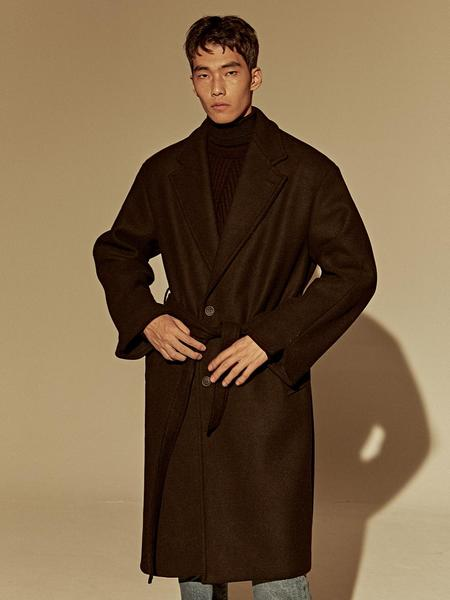 DEANS Wool Over Single Coat - Black