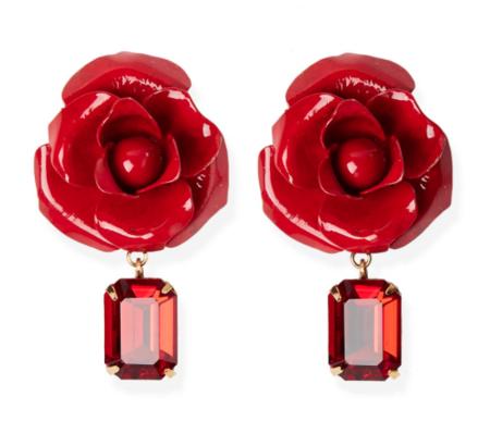 Jennifer Behr Cordelia Earrings - Crimson