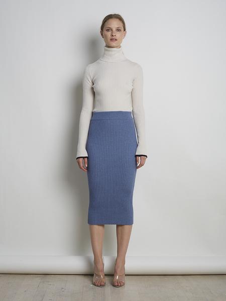 Eleven Six Eva Sweater Skirt - Steel Blue