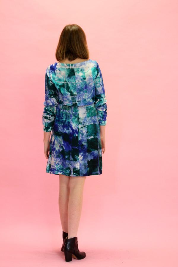 Osei Duro Aburi Dress | Green + Blue