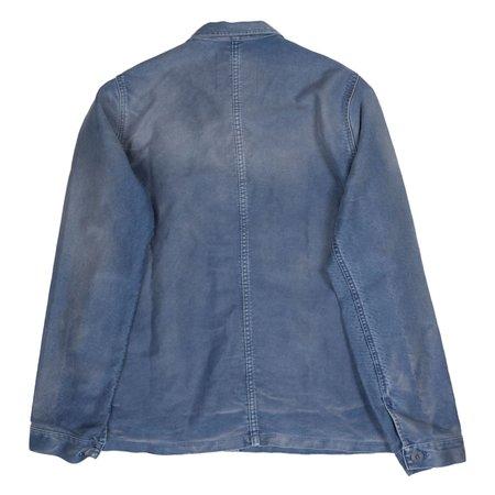 Le Mont Saint-Michel Vintage Washed Work Jacket - Blue