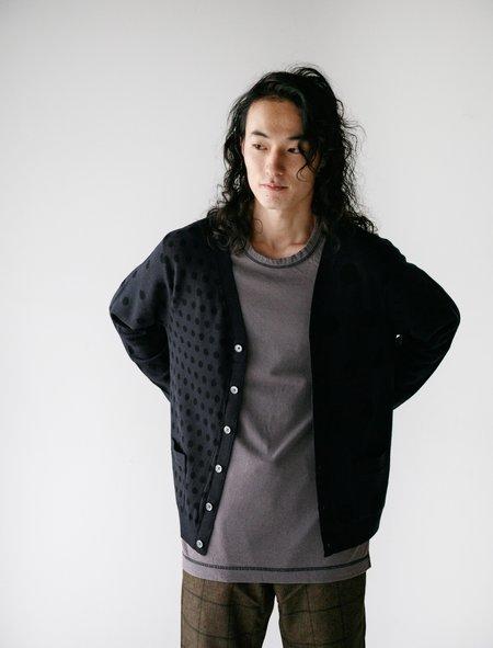 Meticulous Knitwear Woodstock Irregular Polka Dot Cardigan