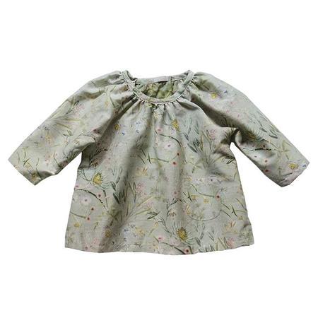 KIDS Makié Baby Jasmine Gathered Shirt - Green