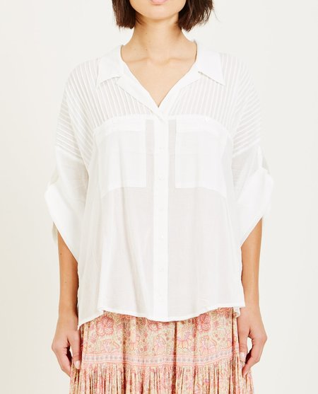 SPELL & THE GYPSY LINDA BLOUSE - WHITE