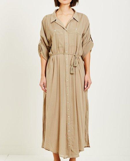 SPELL & THE GYPSY LINDA SHIRT DRESS - KHAKI