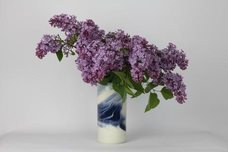Jenny Rijke V VASE - MARBLED BLUE