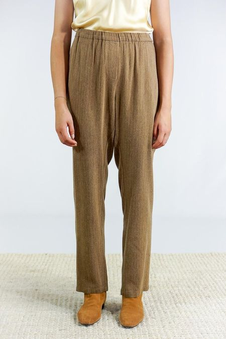 Humanoid Ula Pin-Striped Trousers - Mud