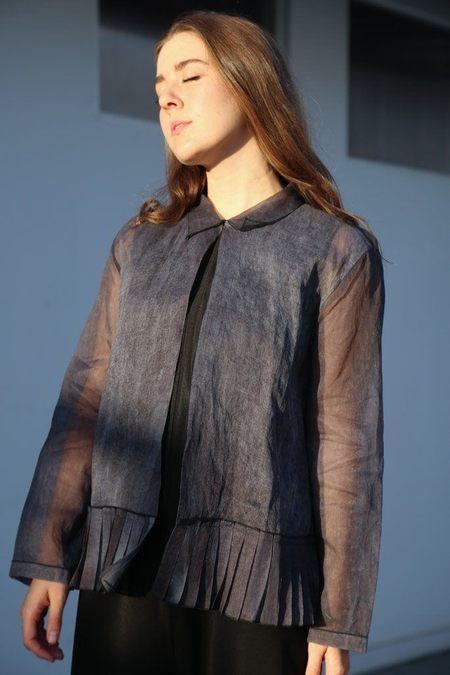 Sara Lanzi Boxy Jacket - Cold Dyeing Navy