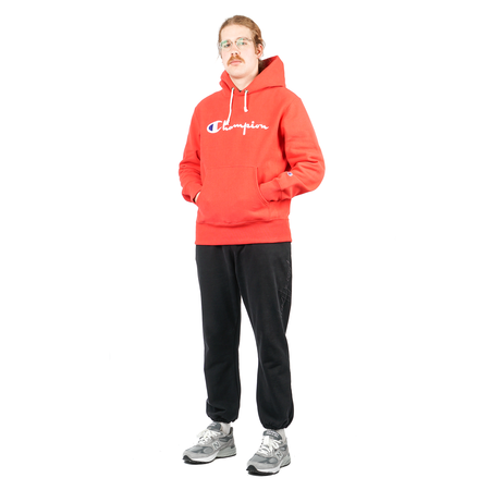 Champion HOODED SWEATSHIRT W/ FULL CHEST LOGO - SIDELINE RED