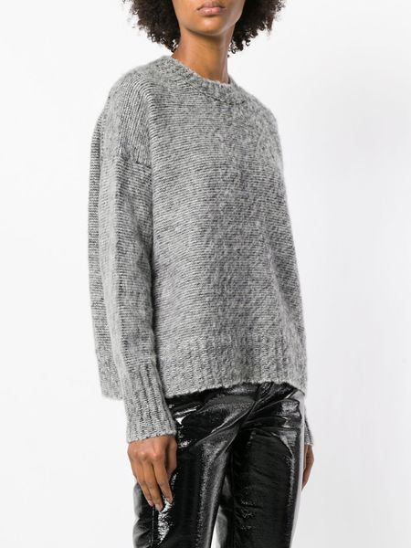 HELMUT LANG Brushed Wool Crewneck - gray