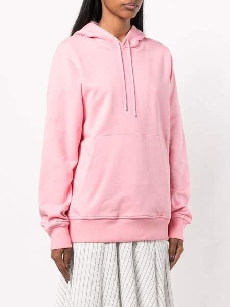 unisex HELMUT LANG Jeremy Deller Patch Pocket Hoodie - Pink
