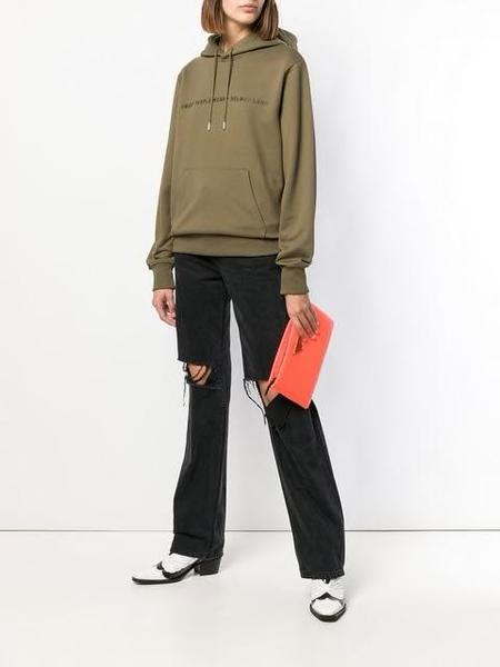 HELMUT LANG Smart People Hoodie - green