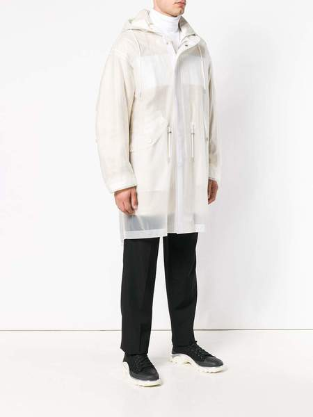 HELMUT LANG Transparent Fishtail Parka - white