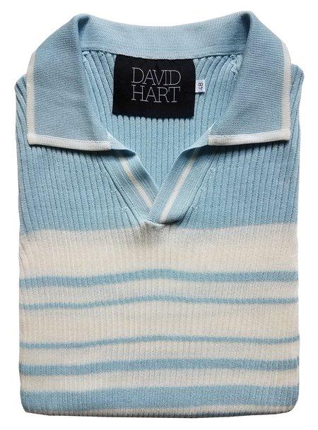 David Hart Rib Knit Sweater - Blue