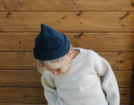 James Street Co Port Beanie - Marled Indigo