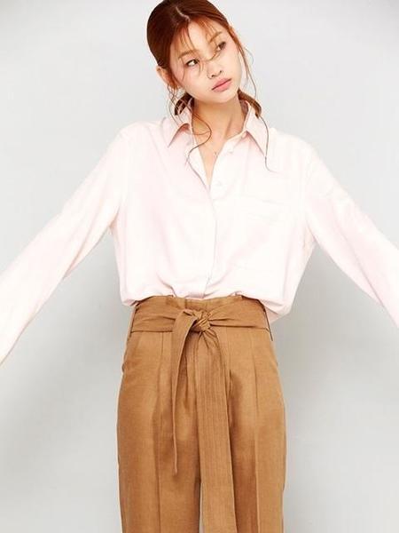 Avouavou Over Size Basic Shirt - Pink