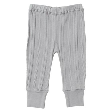 KIDS Tane Organics Baby Ribbed Leggings - Frost Grey