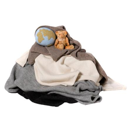 KIDS Tane Organics Blanket With Hood - Soft White