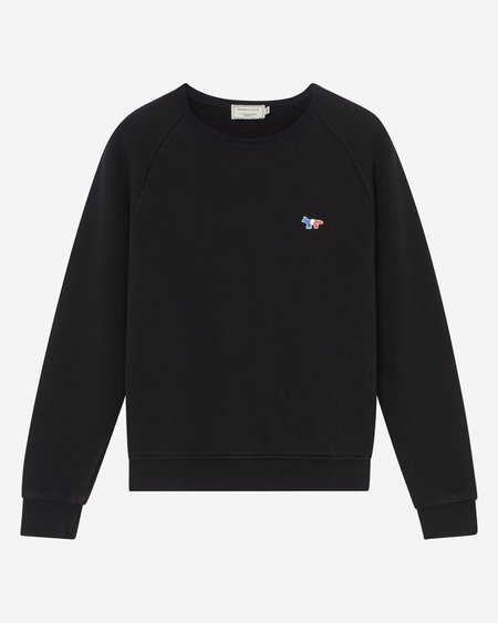 Maison Kitsune Tricolor Fox Sweatshirt - Black