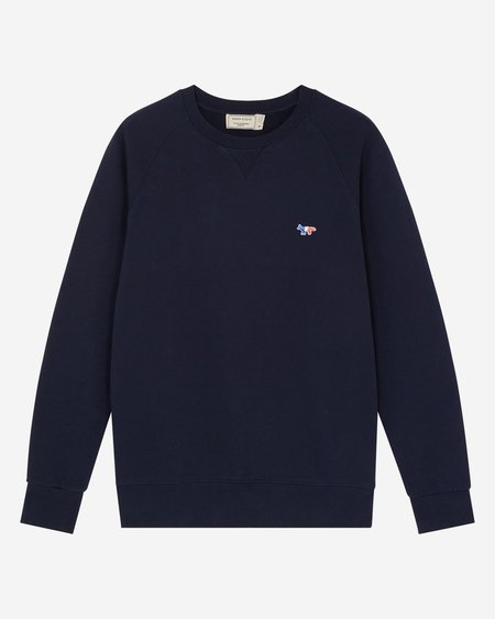 Maison Kitsune Tricolor Fox Sweatshirt - Navy