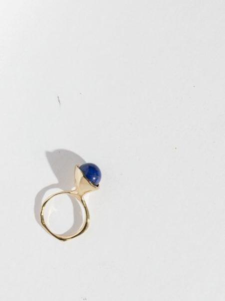 FARIS Chapeau Ring - Bronze/Lapis