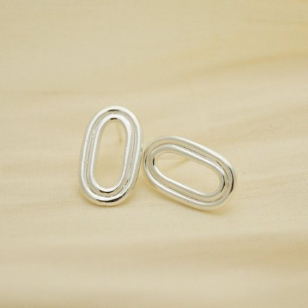Sunday Feel Track Earrings - Silver