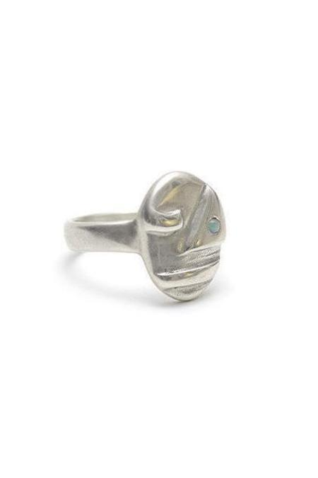 Seaworthy Sophie Face Ring - Silver/Opal